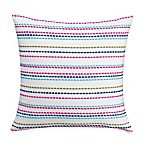 Wander Home Krysten Striped Square Throw Pillow in White
