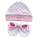 Baby Vision® Luvable Friends® 2-Piece Cap and Booties Set in Pink