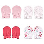 BabyVision® Luvable Friends™ 4-Pack Scratch Mitten in Pink/Floral