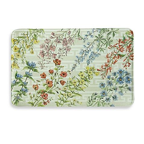 Bacova Summer Flowers Memory Foam Kitchen Mat Bed Bath Beyond