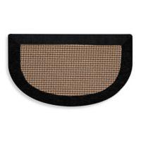 Maplewood Slice 20-Inch x 32-Inch Kitchen Mat in Black