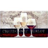 Cook N Comfort 35.4-Inch x 19.6-Inch Parisian Wine Window Anti-Fatigue Kitchen Mat