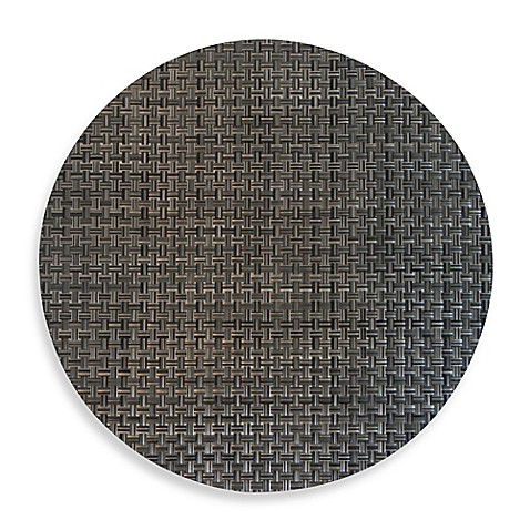Buy Bistro Woven Vinyl Placemat In Pewter From Bed Bath