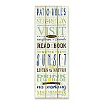 """Patio Rules"" Canvas Wall Art"