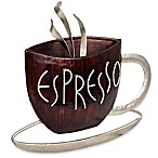 Espresso Metal Plaque Wall Art