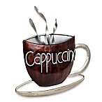 Cappuccino Metal Plaque Wall Art