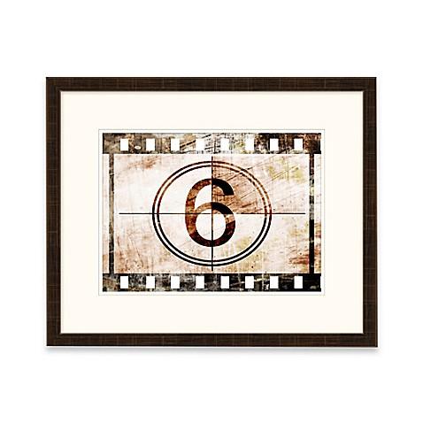 framed gicl e number 6 wall art bed bath beyond. Black Bedroom Furniture Sets. Home Design Ideas