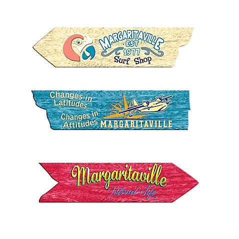 Margaritaville 174 Directional Sign Outdoor Wall Art Bed