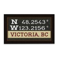 Victoria, Canada Coordinates Framed Giclee Print Wall Art
