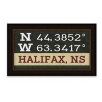 Halifax, Nova Scotia, Canada Coordinates Framed Giclee Print Wall Art