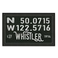 Whistler, Canada Coordinates Framed Giclee Print Wall Art