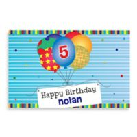 """Happy Birthday"" Activity Placemat in Blue"