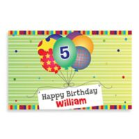"""Happy Birthday"" Activity Placemat in Green"