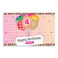 """Happy Birthday"" Activity Placemat in Pink"