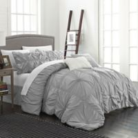 Chic Home Hilton 6-Piece King Comforter Set in Silver