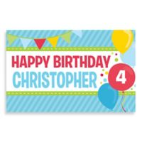 """Happy Birthday"" Activity Banner Placemat in Blue"