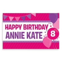 """""""Happy Birthday"""" Activity Banner Placemat in Pink/Purple"""
