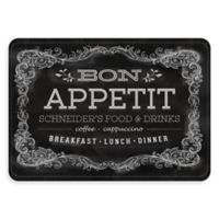 "Premium Comfort by Weather Guard™ ""Bon Appetit"" 22-Inch x 31-Inch Kitchen Mat in Black/White"