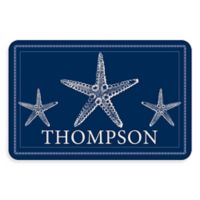 Weather Guard™ Starfish 23-Inch x 35-Inch Kitchen Mat in Blue/White