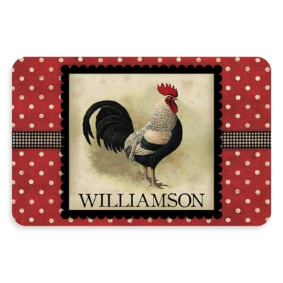 Weather Guard™ 23 Inch X 36 Inch Polka Dot Rooster Kitchen Mat