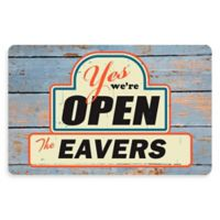 "The Softer Side of Weather Guard™ ""Yes, We're Open"" 23-Inch x 36-Inch Kitchen Mat"