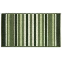 Bacova Striped Ivy 22.4-Inch x 40-Inch Berber Kitchen Rug in Green