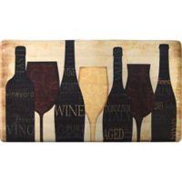 Cook N Comfort 35.4-Inch x 19.6-Inch Wine Silhouette Anti-Fatigue Kitchen Mat