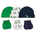 Baby Vision® Luvable Friends® Size 0-6M 6-Piece Turtle Cap and Mittens Set in Green