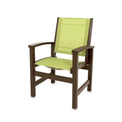 POLYWOOD® Coastal Dining Chair In Mahogany/Tan
