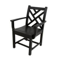 POLYWOOD® Chippendale Dining Arm Chair in Black