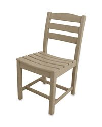 POLYWOOD® La Casa Café Dining Side Chair in Sand