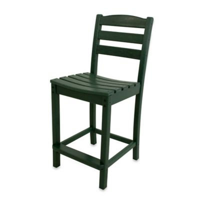 POLYWOOD® La Casa Café Counter Side Chair In Green