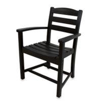 POLYWOOD® La Casa Café Dining Arm Chair in Black