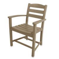 POLYWOOD® La Casa Café Dining Arm Chair in Sand