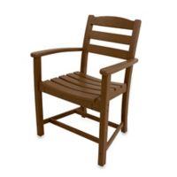 POLYWOOD® La Casa Café Dining Arm Chair in Teak