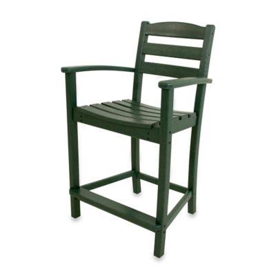 POLYWOOD® La Casa Café Counter Arm Chair In Green