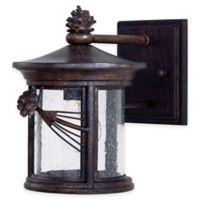 Minka Lavery® Abbey Lane™ 1-Light 10-Inch Wall-Mount Outdoor Lantern in Iron Oxide