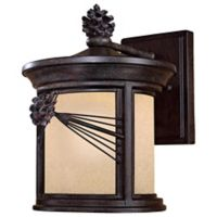 Minka Lavery® Abbey Lane™ 1-Light 12.5-Inch Wall-Mount Outdoor Wall Lantern in Iron Oxide