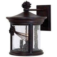 Minka Lavery® Abbey Lane™ 3-Light Wall-Mount Outdoor Lantern in Iron Oxide