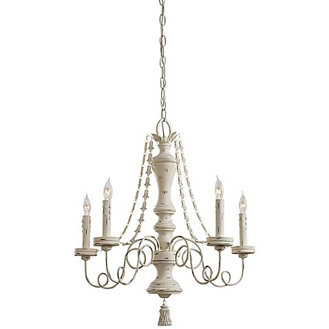Minka Lavery Accents Provence 5 Light Chandelier In Provencal Blanc Bed Ba