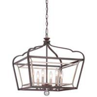 Minka Lavery® Astrapia 6-Light Pendant in Dark-Rubbed Sienna