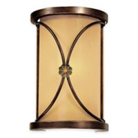 Minka Lavery® Atterbury 1-Light Wall Sconce in Bronze with Glass Shade