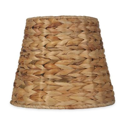 Mix match small 9 inch tropical seagrass unlined drum lamp shade