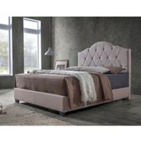 Baxton Studio Juliet Fabric Upholstered Full Bed in Light Brown