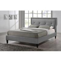 Baxton Studio Marquesa Linen Upholstered Platform Bed