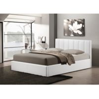 Baxton Studio Templemore Upholstered Queen Platform Bed with Storage in White