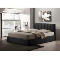 Baxton Studio Templemore Upholstered Queen Platform Bed with Storage in Black