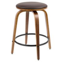 LumiSource Porto Counter Stools in Brown (Set of 2)