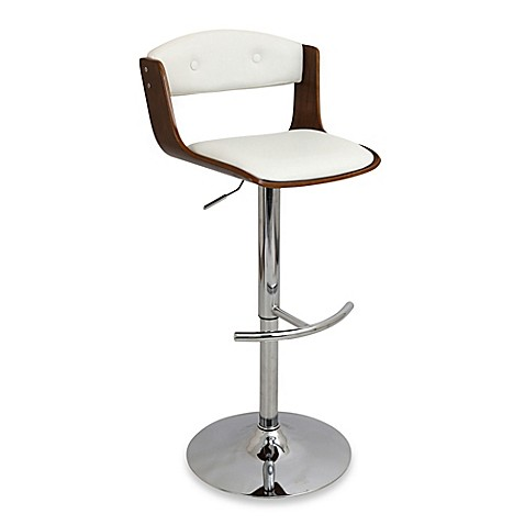 Buy Lumisource Scucci Barstool In White From Bed Bath Amp Beyond