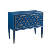 Bassett Mirror Company Selby 2-Drawer Hall Chest in Blue